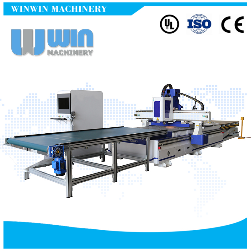 Automatic feeding CNC Router with Drill machine