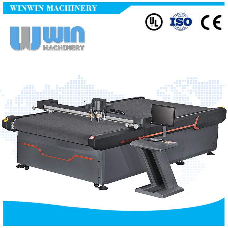 Easy Operation New Design Vinyl Cutter For PP PVC Sheet Rubber Sign Board Flatbed Cutting Machine